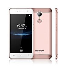 HOMTOM HT37pro 5.0 Inch Smart Phone 3G RAM 32G ROM Fingerprint 4G Cellphone - Rose Golden