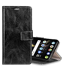Lenovo K8 Note PU Leather Protective Back Cover Case with Holder and Card Slots and Wallet(Black)