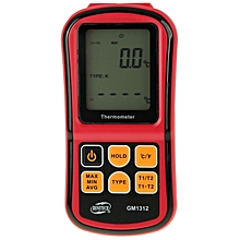 BENETECH GM1312 2.4 inch LCD Screen Thermocouple Thermometer Measure J,K,T,E,N and R Type, Measure Range: -50~300C