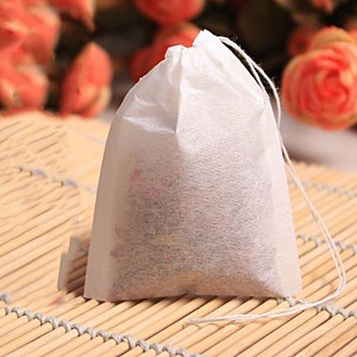100pcs Set Empty Teabags String Heat Seal Filter Paper Herb Loose Tea Bags 6