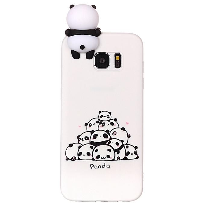 on sale e37f6 748e1 Galaxy S7 Edge Phone Case, Soft Silicone Slim Flexible 3D Cartoon Animal  Super Cute TPU Painted Pattern Case Cover for Samsung Galaxy S7 Edge 5.5