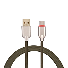 3.4A USB 3.1 Type-C Cable for Samsung Galaxy S9 Plus/S9/S8/S8 Plus/OnePlus 5T - BROWN