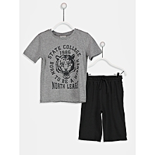 Boy Black Roller&T-shirt Set