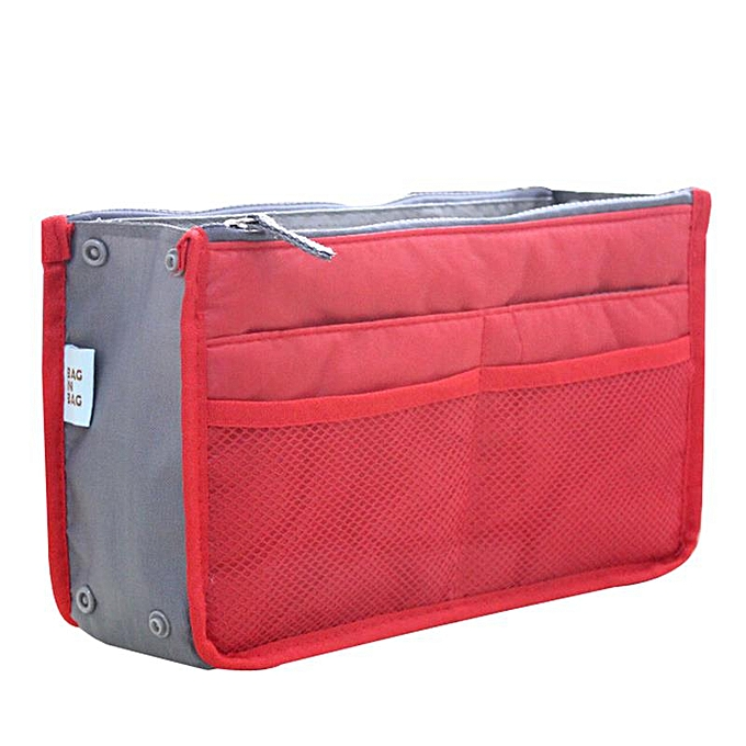173f2ae48243 Cosmetic Bag Makeup Bag Travel Organizer Portable Beauty Pouch Functional  Bag Toiletry Make Up Makeup Organizers Phone Bag Case(Red)