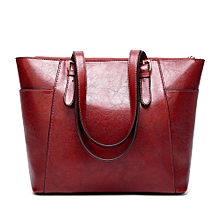 Womens Leather Handbags Satchel Shoulder Bags - Red