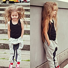 Unisex Children Casual Clothing Set - Black - 90