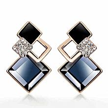 Earrings For Women Luxury Drop Earrings Crystal Shiny Jewellery Fashion Accessories One Pair - blue