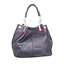 Navy Blue Shoulder Tote Handbag