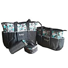5 Piece Diaper Bag- Black