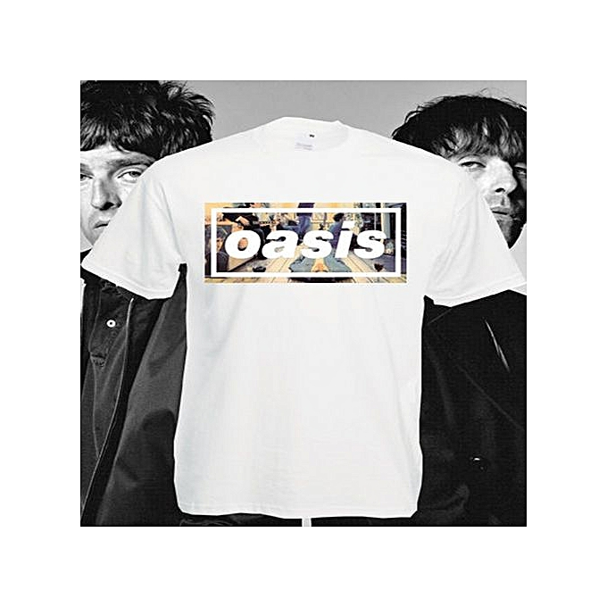 79192d742299 Fashion Oasis T Shirt Definitely Maybe Band Top Men Simple Design Summer  New Fashion Clothes