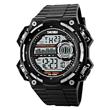 1115 Brand men luxury digital watch Fashion LED Outdoor Sports Electronic Watches - Silver