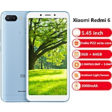 Redmi 6 4G 5.45 inch 3GB RAM 64GB ROM-LIGHT SKY BLUE