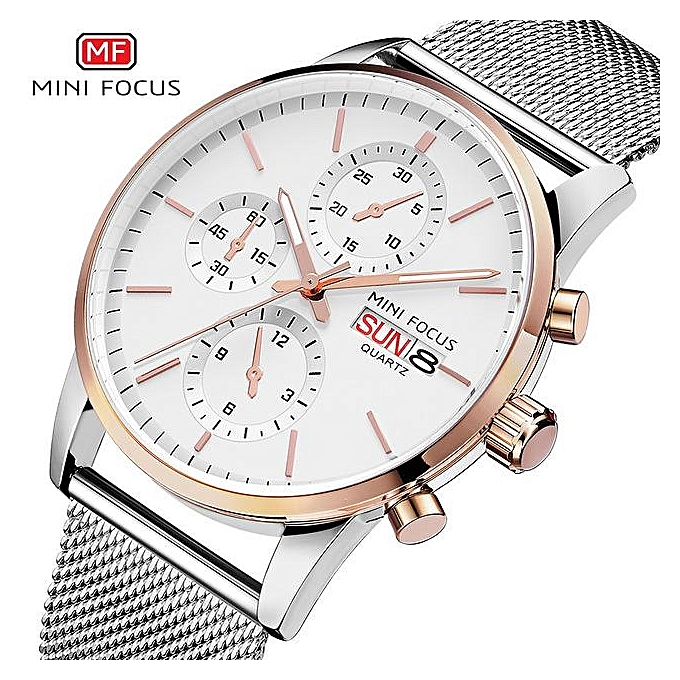 a3e1a269893 MINIFOCUS Mens Watches Top Brand Luxury Men Quartz Watch Stainless Steel  Watchband Business Calendar Wristwatch Male