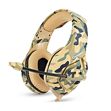 FELYBY Camouflage army gaming headphones green Noise canceling for computer PS4 PSP phone 3.5mm Wired headset with Microphone