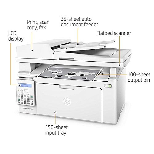 LaserJet Pro MFP M130fn Print Copy Fax Scan- White