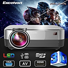 LED Projector 1800 Lumens Touch Panel - Silver