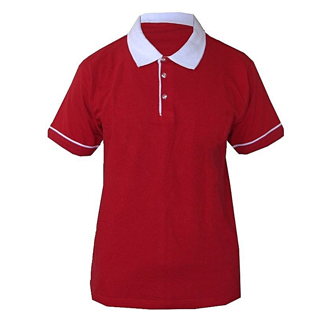 fd0aa2588941 Buy Generic Red   White Polo Shirt   Best Price   Jumia Kenya