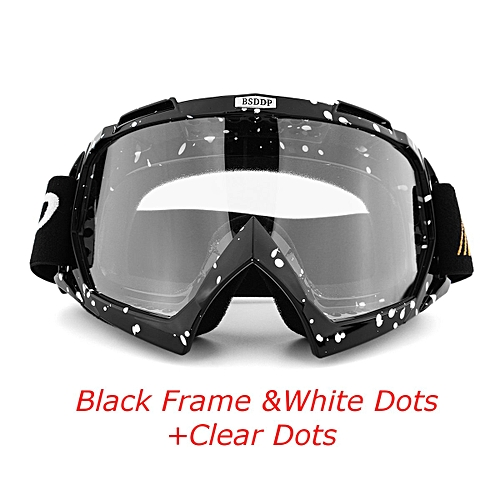 Generic Fashion Motocross Helmet Glasses Cycling Goggles Glasses Windproof Ski Off-Road Racing UV Eyewear Goggles PC Lens Type2