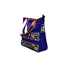 Multicolor ToteBag for  Women 15.6 Inch Laptop Bag Notebook Shoulder Bag Lightweight Multi-pocket Suede Casual Handbag (Blue)