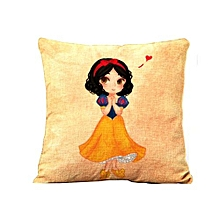 Mermaid Princess Pillow Cover -Yellow&Blue