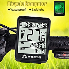 Waterproof Wireless Digital Cycling Bike Bicycle Computer Speedometer Odometer Black
