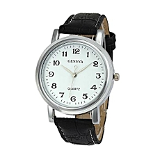 Olivaren Geneva Women Faux Leather Analog Quartz Wrist WatchWhite