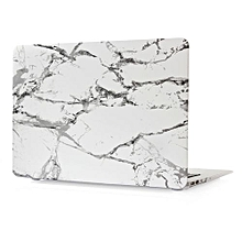 """13"""" Air Case, Marble Hard Rubberized Cover For Macbook Air 13.3 Inch, White/Black"""