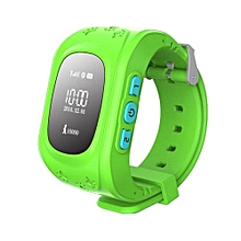 Kids Gps Watch SOS Call Location Finder Smartwatch Phone Anti Lost Child For Iphone Android Phone Green