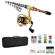 2.1m Telescopic Fishing Rod Reel Pole Set With Line Lures