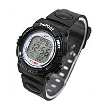 Girl Boy LED Light Wrist Watch Alarm Date Digital Multifunction Sport BK