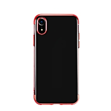 For iPhone XR Soft TPU Case Ultra Thin Transparent Phone Shell Plating Shining Case Mixed Silicon Cover Durable Anti-scratch Anti-dust