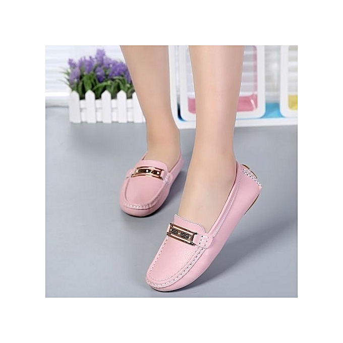 74677181755 ... Women s Casual Loafers Genuine Leather Driving Moccasins Slip-On Flat  Shoes-pink ...