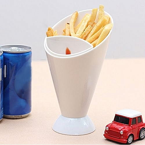 1Set Portable Dip Container Fries Cup Innovative Salad Bowl Kitchen Supplies