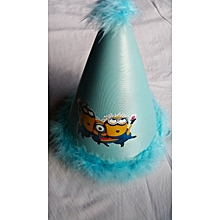 Blue Feathered Party Hat - Minions