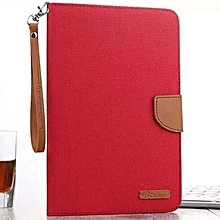 High Quality Cowboy Fabric Flip Cover Case for Apple iPad Tablet mini 2(Red) Mll-S