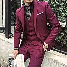 New Stylish 3 Pcs/ Sets Korean Men Profession Student Suits Blazer