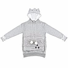 e441f3c1e New Chic High Quality Japanese Kangaroo Big Pocket Grey Cat Dog Pet Casual  Hoodie Sweatshirts Hoodie