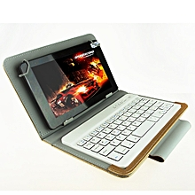 Universal Bluetooth Keyboard with Leather Case & Holder for Ainol / PiPO / Ramos 7.0 Inch / 7.8 Inch / 8.0 Inch Tablet PC(Gold)