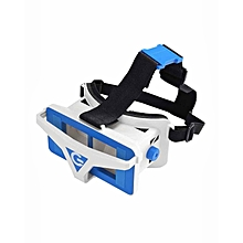 3D VR Virtual Reality Headset FOV122 For 4.5-6inches Smartphones - White+blue