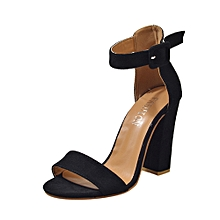 Generic Women Buckle Strap Ladies Ankle High Heels Sandals Block Party Singel Shoes  A1