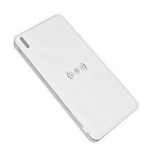 CO 10000mAh Qi Standard Wireless Fast Battery Charger Universal Power Bank-white