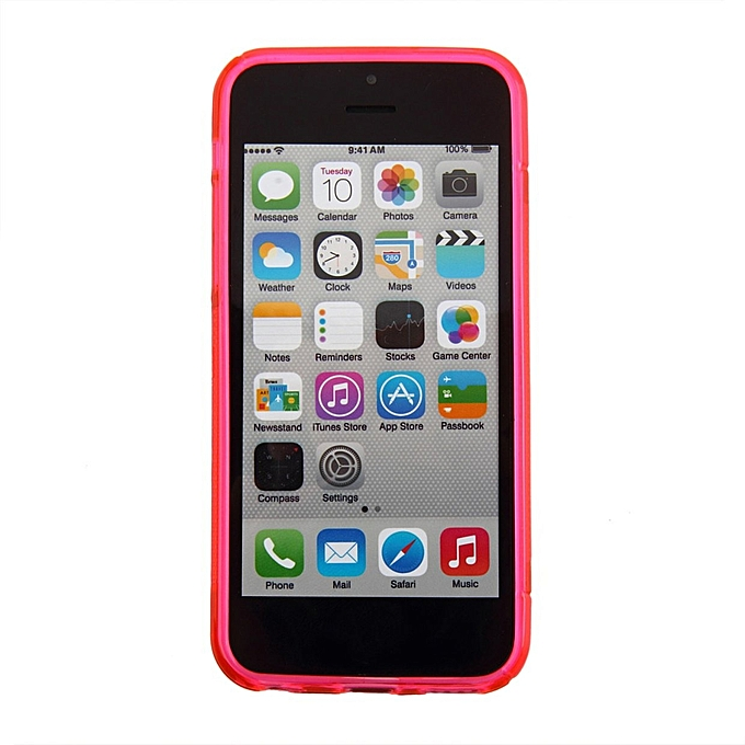 ... S-line Wave Back Skin Ultra-thin TPU Protective Case Cover for iphone  5C ... 82431ae5b9