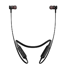 Awei G10BL Stereo Bluetooth Sports Earphones Neckband Wireless Magnetic Absorption Earbuds-BLACK