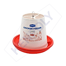 Durable Chicken Feeder with Rod 15 Ltrs