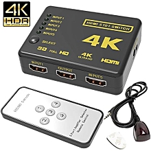 4K 5 Port Full HDMI Switch Switcher Splitter Remote Control 1080P For HDTV DVD