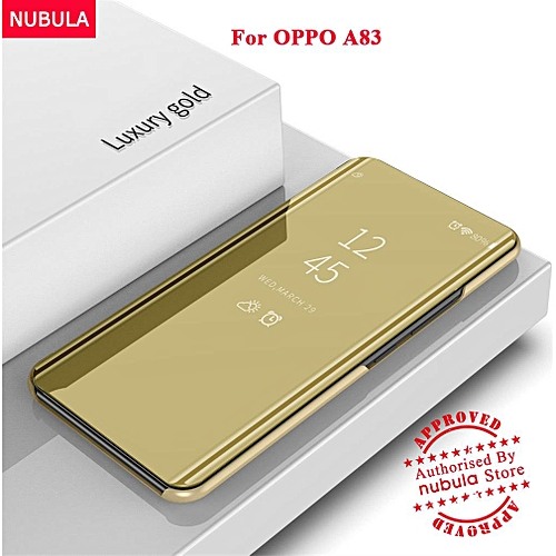 For OPPO A83 Flip Case,360 Degree Luxury Mirror Clamshell Hard Shell Case  Smart Clear View Flip Cover For OPPO A83 213265 Color-3