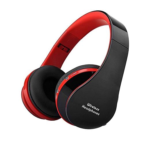 c133ef8c39f Generic Headfone Casque Audio Bluetooth Headset Big Earphone Cordless  Wireless Headphone for Computer PC Head Phone iPhone With Mic Aptx(Red)