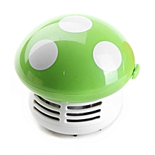 Mini Mushroom Desk Cleaner Vacuum Cleaner Cute Corner Table Dust Collector green