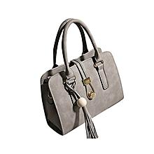 97c37e4bb5e7 Hiamok Fashion Women Handbags Shoulder Bags Tote Bag Female Retro Messenger  Bag GY - Grey