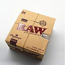 Kingsize raw Rolling Paper Full Box Of 24 Packs with filter tips